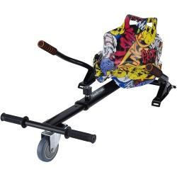 Hoverkart Negru Graffity (hoverseat, scaun) compatibil cu hoverboard de 6.5 inch si 10 inch
